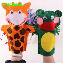 5pcs/lot Kids DIY Handmade Cartoon Animal Hand Cloth Puppet dolls Story Telling handcraft Kits Children(China (Mainland))