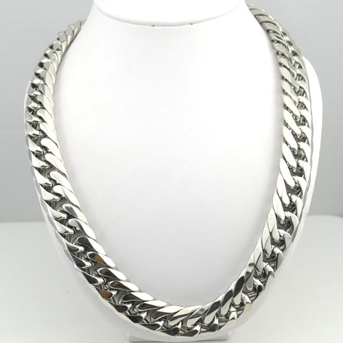 60CM*17MM BIG Long Silver Color Top Quality Necklace Stainless Steel Chains Mans Jewellry Wholesale Free Shipping Gifts KN231<br><br>Aliexpress