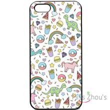 For iphone 4/4s 5/5s 5c SE 6/6s plus ipod touch 4/5/6 cellphone cases cover Cute fries pattern unicorn rainbow quotes donut