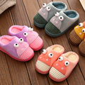 Winter Children s shoes girls boys Cartoon pattern shoes Lovely Frog Cartoon Half pack Cotton slippers