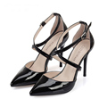Fashion 2016 New Spring And Summer Sexy Sandals 10cm 12cm Pointed Toe Pumps Black Stilettos Size