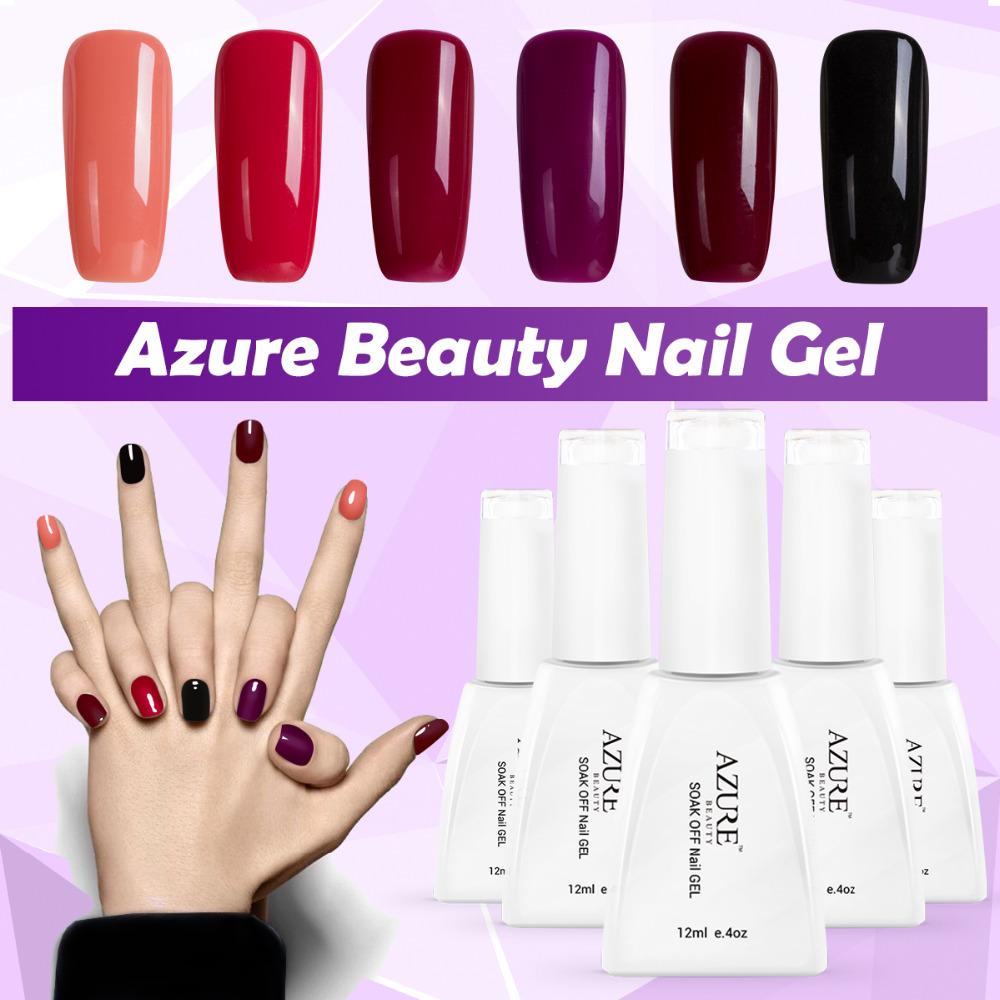 Azure Newest Color UV Nail Gel Polish Hot Sale 60 Fashion Nail Varnish DIY Your Style Gel Polish 12ml Soak Off Nail Lacquer(China (Mainland))