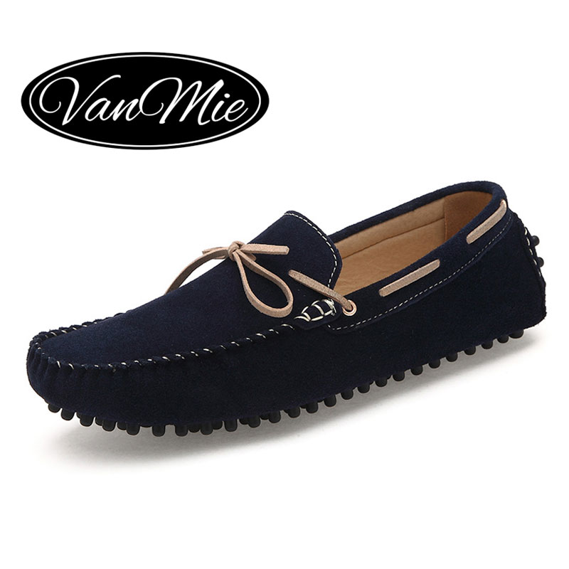 2016 Fashion Men Loafers Genuine Leather Casual Shoes Slip On Moccasins Menu0026#39;s Flats Shoes Mens ...