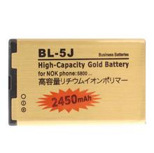 Высокая емкость 2450 мАч золотой BL-5J аккумулятор телефона для Nokia 5800 XpressMusic BL5J Nuron 5230 C3 5228 X 6 X 9 аккумулятор Batterij