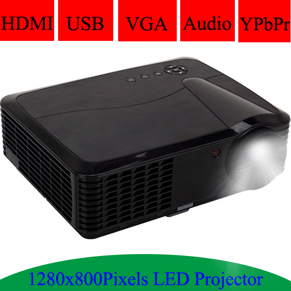 Multimedia HDMI USB Projector 1280x800Pixels Resolution Support Spanish Portuguese LED Lamp 720P Beamer Video Projecteur(China (Mainland))
