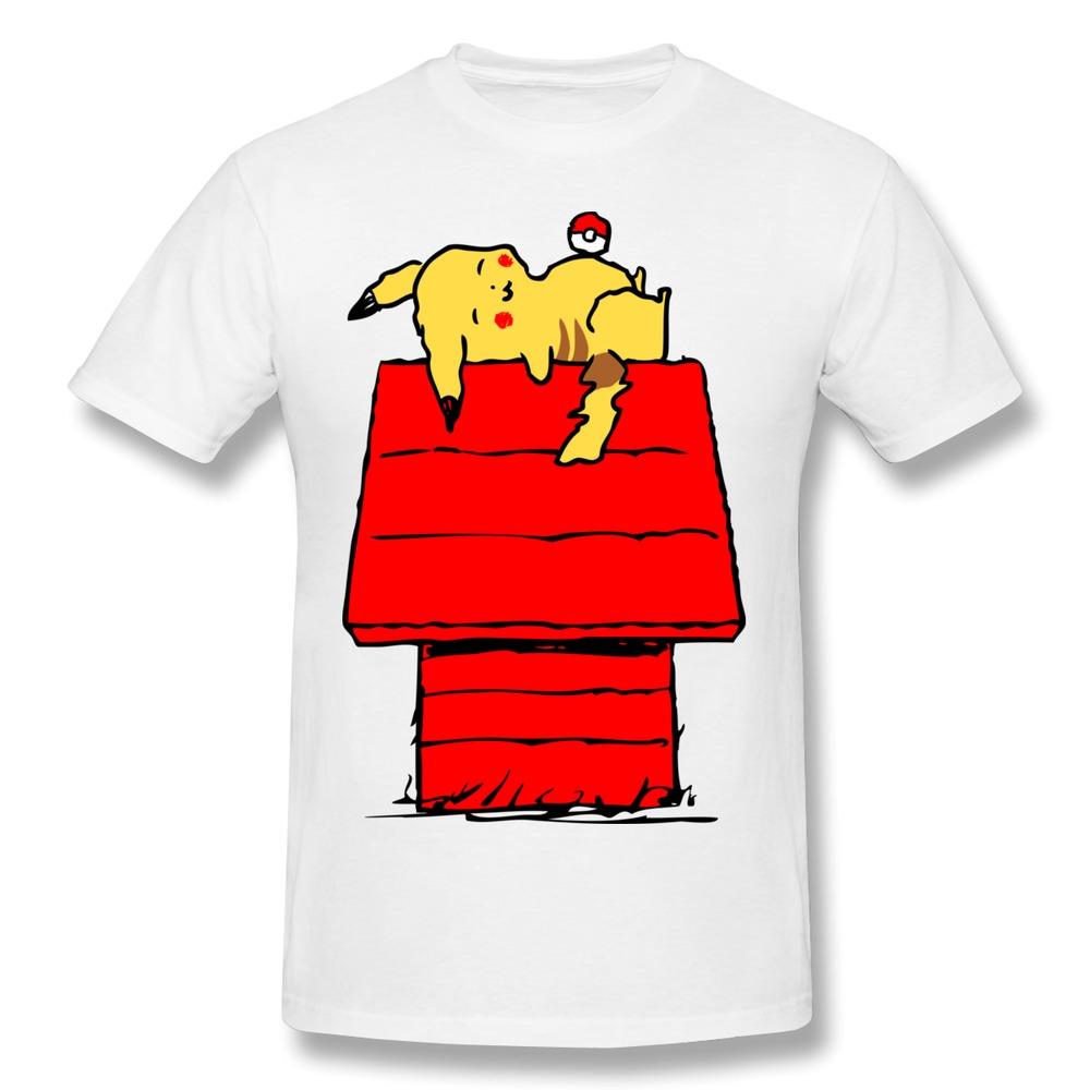 New 2014 summer custom regular t shirt men pokemon pikacu for Best place for custom t shirts