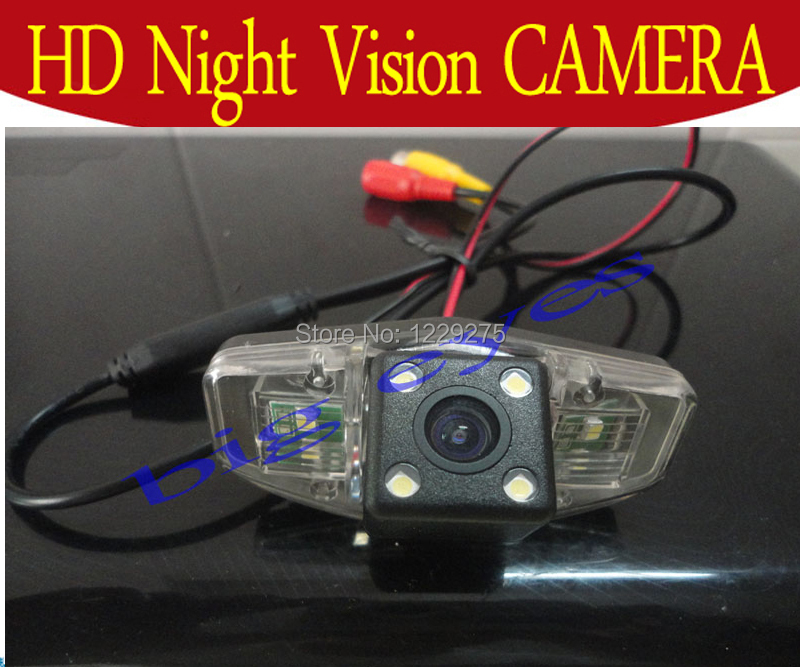Car Reversing Parking Camera Back up Rearview Night Vision Cam with Guide Lines for Honda Accord/Civic/Odyssey/Pilot(China (Mainland))