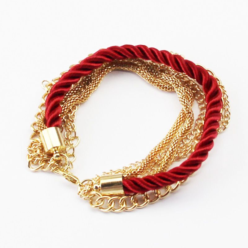 Fashionable Rope Chain Decoration Bracelet For Girl Six Color Hot Selling Bracelet For Summer Party Special Accessory(China (Mainland))
