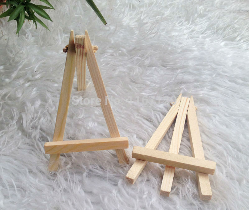 12Pcs Mini Display Miniature Easel Wedding Table Number Place Name Card Stand 12*7cm(China (Mainland))