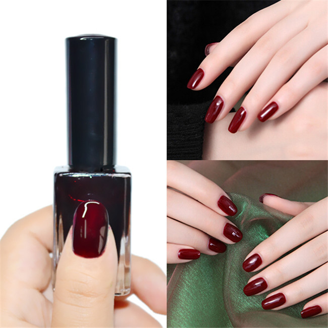 Wholesale 15ml Dark Red Nail Polish Regular Color Nail Tips ...