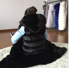 2016 New Fashion Long Faux Fox Mink Fur Vest With Hooded Women Winter Slims Super Long Fake Fur Vests Fur Coat Female Jackets(China (Mainland))