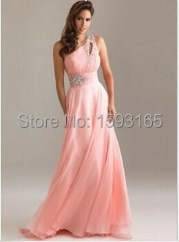 Vestidos largos de fiesta rebordear vestido rosa prom stock vestido barato summer dress prom dress 2 , 16 W vestido de baile ves.
