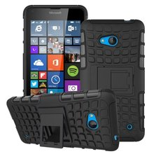 For Microsoft Nokia Lumia 640 Case Hybrid TPU+PC 2 In 1 Hard Armor Shockproof With Stand Function Cover Cases(China (Mainland))