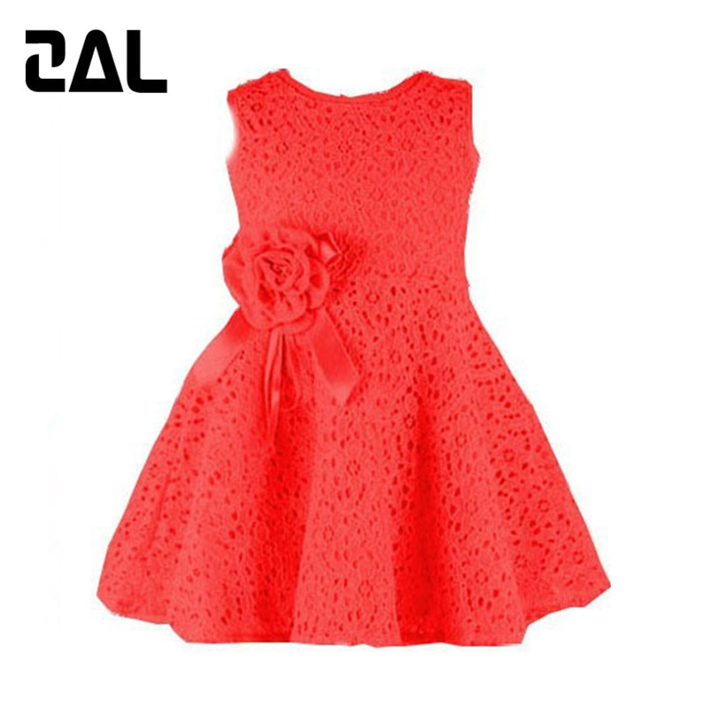 Brand New Baby Girl Tank Dress 2015 Summer Style Lace Dresses for Girl Fashion Children Clothes Sleeveless Girls Dress 2D(China (Mainland))
