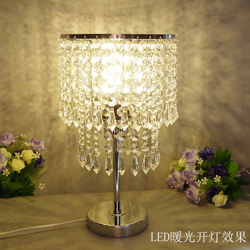 Modern Crystal table lamp living room bedroom bedside table lamp crystal decorative crystal lighting LED modern lamps table(China (Mainland))