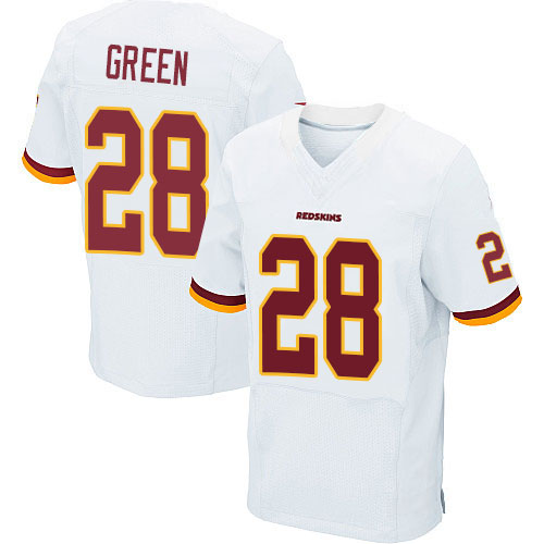 Men's #28 Darrell Green Elite White Football Jersey 100% Stitched(China (Mainland))
