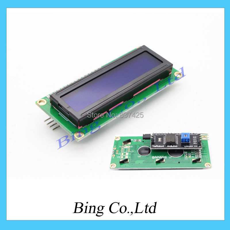 IIC/I2C 1602 Serial Blue Backlight LCD Display For Arduino 2560 UNO AVR A004 Free Shipping Dropshipping(China (Mainland))