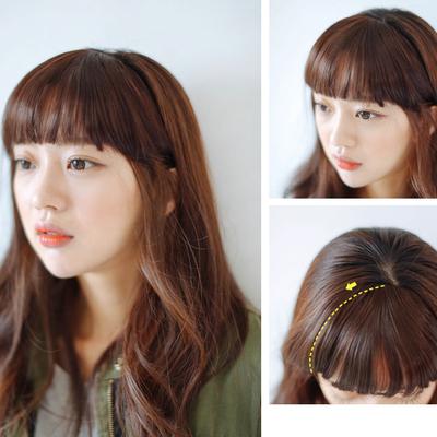 front hair bangs extension clip in hair bang synthetic hair fringe lady women girl cute hair fringe bangs<br><br>Aliexpress