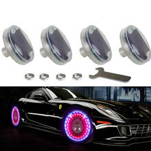 4pcs Led Flash Tyre Valves Lamp 13 Flash color Models Stunning Waterproof Car Tuning Gas Nozzle Cap Lamp Rim Light CE(China (Mainland))