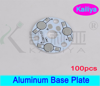 FREE SHIPPING 100pcs/lot 3W 5W 3 LEDs  Heat Sink Plate,LED Beads Circuit Plate,Aluminum Base Plate