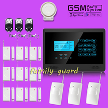 Free Shipping!Wolf guard Wireless GSM Alarm System Inturder Alarm System Touch Keypad smart gsm SMS home security alarm system