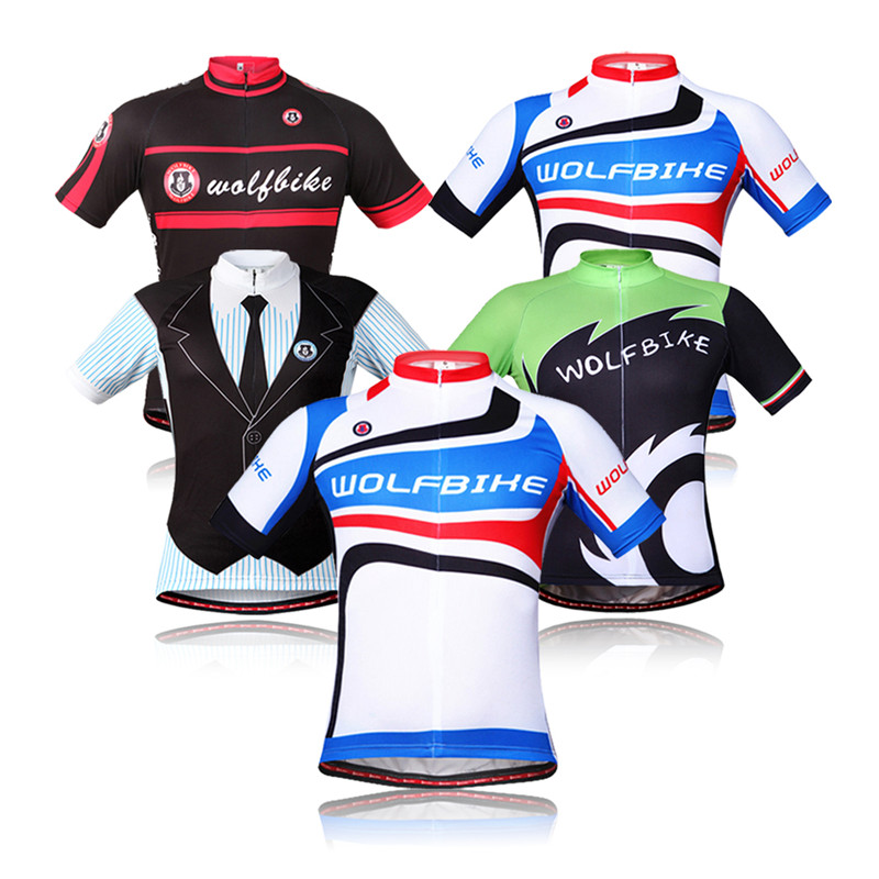 WOLFBIKE Unisex Summer Short Sleeve Cycling Jersey Quick Dry Breathable Bike Bicycle T-shirt Sportswear Clothing For Men Women<br><br>Aliexpress