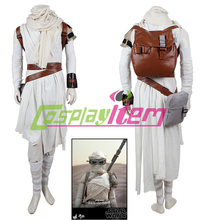 Movie Star Wars: The Force Awakens Rey Concept Cosplay Costume Custom Made adults whole set suits with accessaries