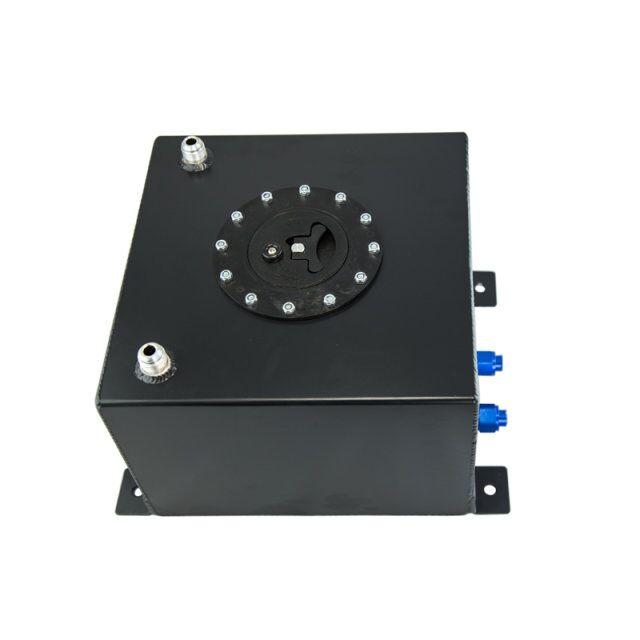 VR RACING-BLACK 20L Aluminium Fuel Surge tank with cap/foam inside Fuel cell  without sensor VR-TK14BK