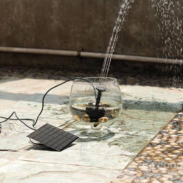 2016 home garden solar panel power submersible fountain for Solar water pump pond
