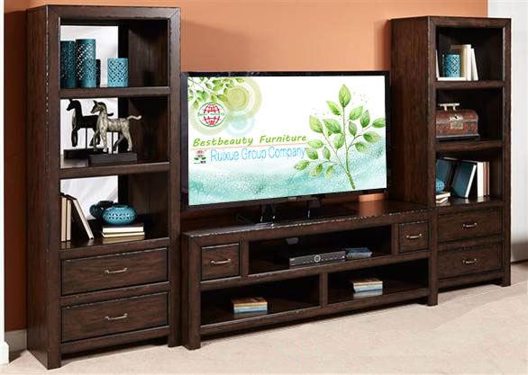 Md011 bois massif bibliothèque fonction tv stand media entertainment console  -> Ali, Baba,Meubles, Bibliothèque,De Tv