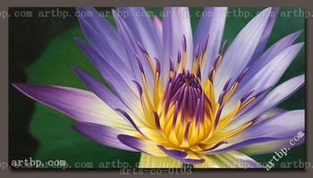Oil Painting Canvas Modern Art Lotus Flower Famous Realistic Paintings Wall Frame Free Shipping Lover Wall Art Painting Large