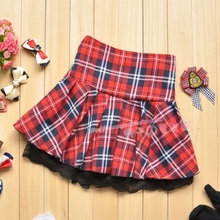 2016 Hot Sell New Fashion Popular Red Casual Scotland short skirts Student School Plaid Ball Gown Women Skirt LX01