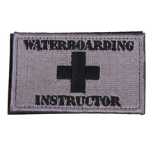 Buy Waterboarding Instructor Patch Tactical Funny Hook & Loop Embroidered Badges Morale Tags Patch Fabric Armband Stickers for $1.37 in AliExpress store
