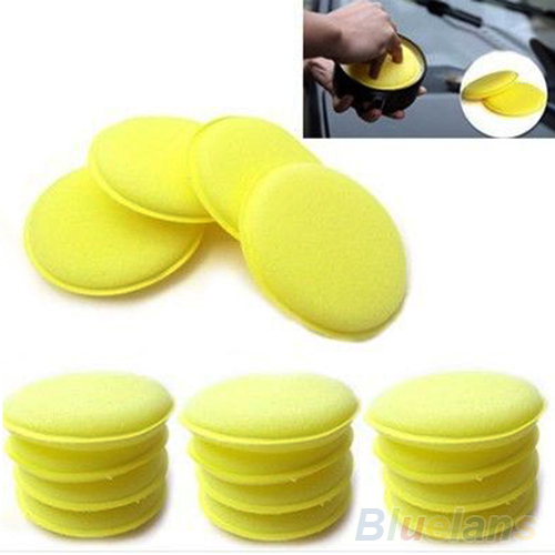 12x Waxing Polish Wax Foam Sponge Applicator Pads For Clean Cars Vehicle Glass Accessories 02CJ 2NOV(China (Mainland))