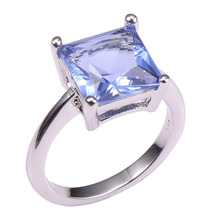 Classic Style Tanzanite 925 Sterling Silver Wedding Party Fashion Design Romantic Ring  Size 5 6 7 8 9 10 11 12 PR40(China (Mainland))