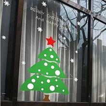 Christmas glass stickers christmas tree window stickers Christmas decoration wall stickers