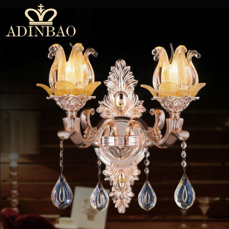 Modern Crystal Wall Sconce Flower Decorative Wall Lamp E14 Led Wall Light Stariway Lamp 8525-2(China (Mainland))