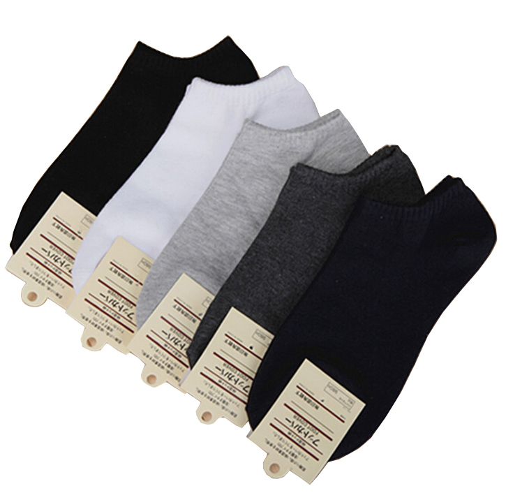 5 pairs/ Lot Women's short boat socks brand high quality polyester breathable casual 3 Pure Color sports sock free shipping(China (Mainland))