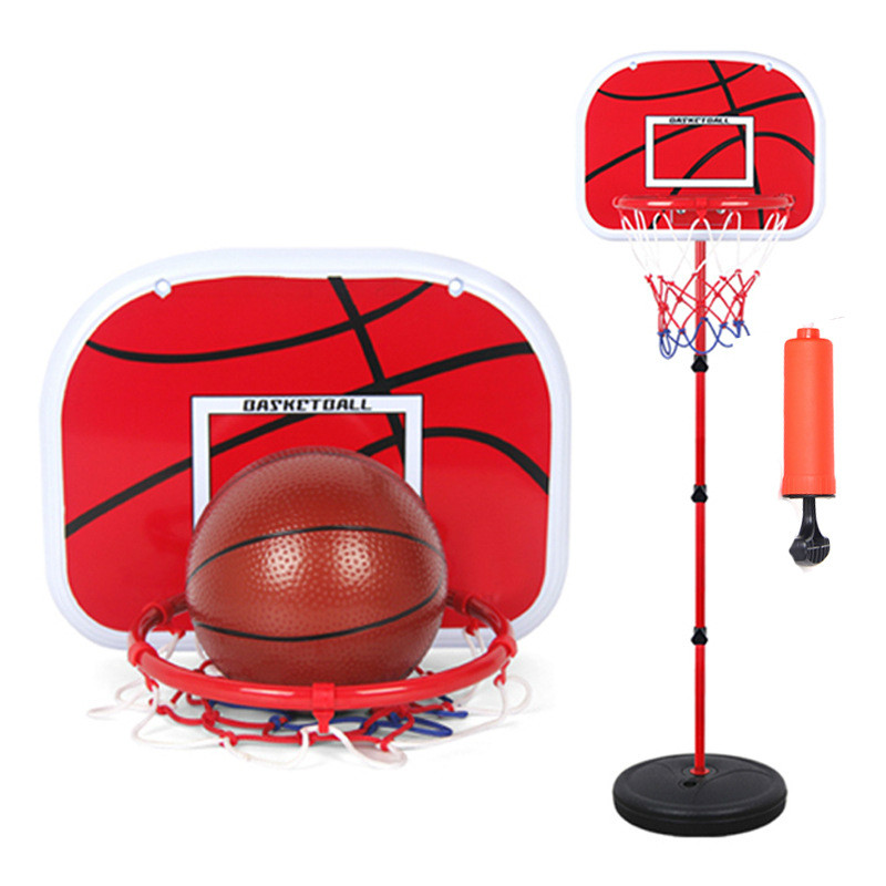 150cm Basketball Outdoor Indoor Sports Basketball Basket Frame Children Cast Iron Lifting Basketball Frame Wholesale With 2 Ball<br><br>Aliexpress