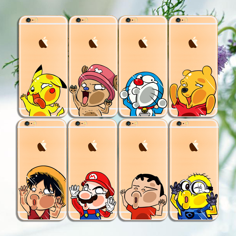Funny Cartoon Face Hit TPU Case For iPhone5 5s 6 6s 6Plus 6s Plus Ultra Thin Flex Cell Phone Case(China (Mainland))