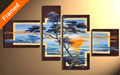 Fresh air natural scenery oil painting multi panels canvas art for living room wall paintings gift