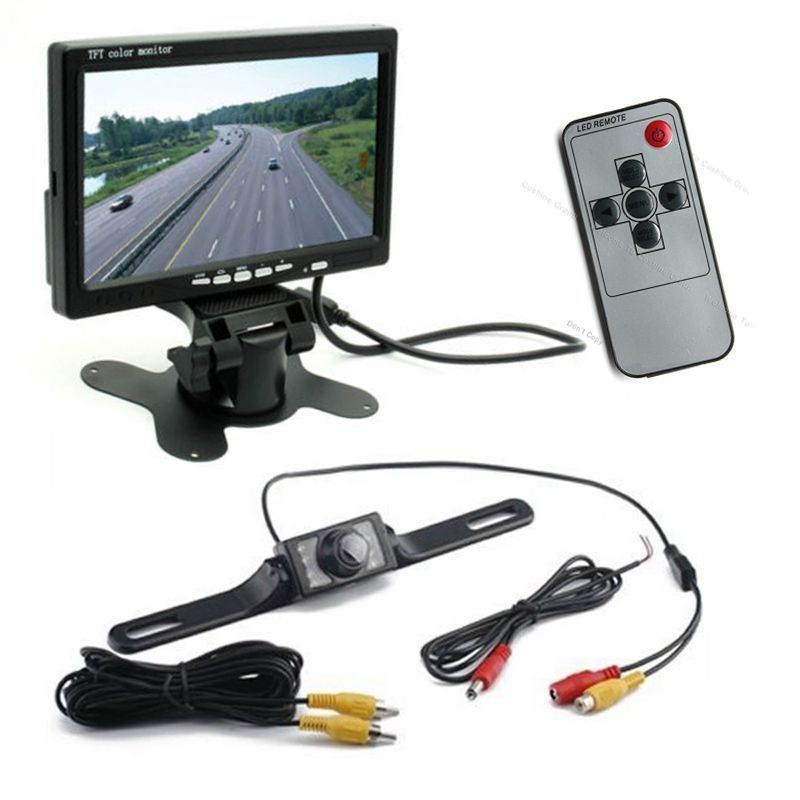 Free Shipping!Newest 7 TFT LCD Monitor+ Waterproof IR Reverse Car Rear View Backup Camera Kit<br><br>Aliexpress