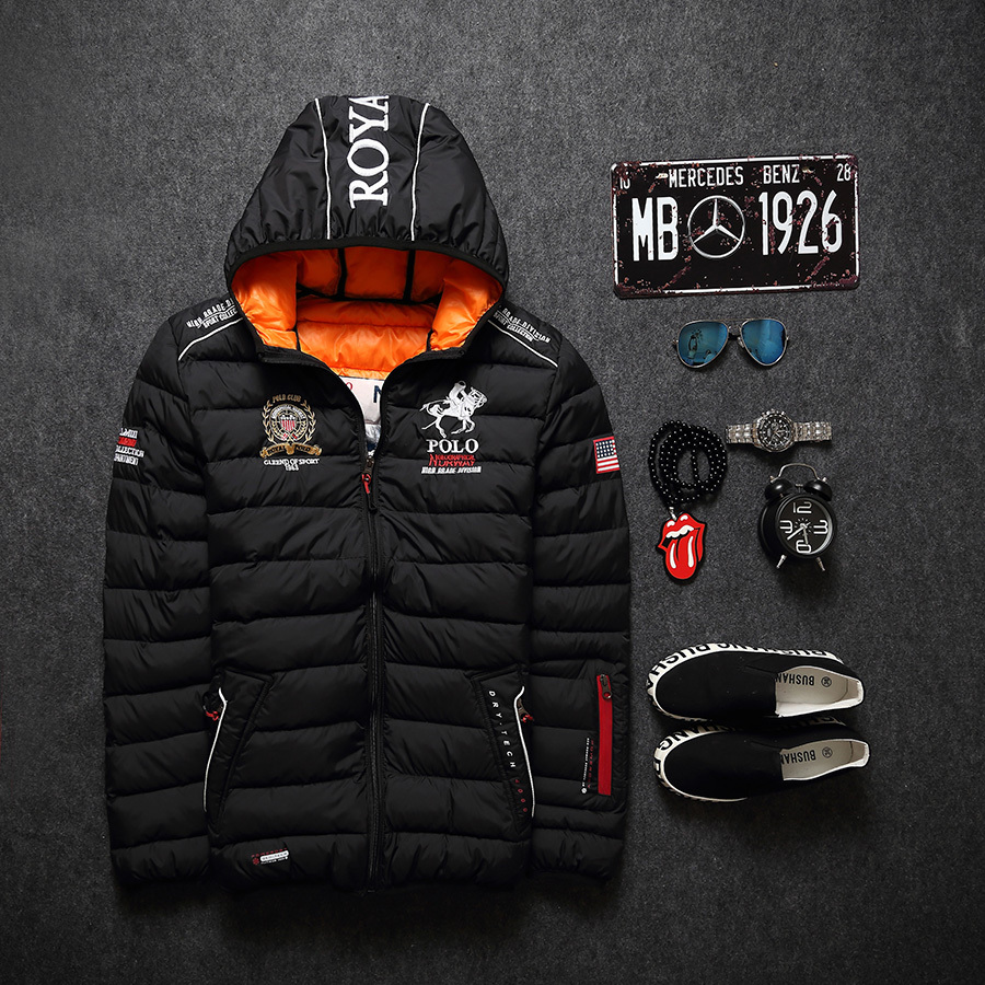 2016 New Fashion Winter Men Thickening Casual Cotton Jacket Outdoors Windproof Breathable Sport Coat parkas men