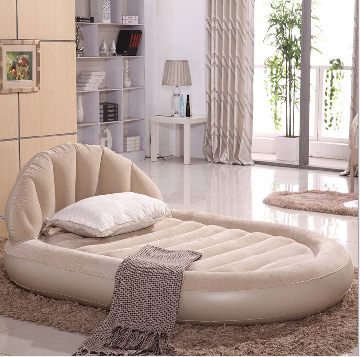 Large luxurious round double air bed inflatable mattress - Modelos de sofas ...