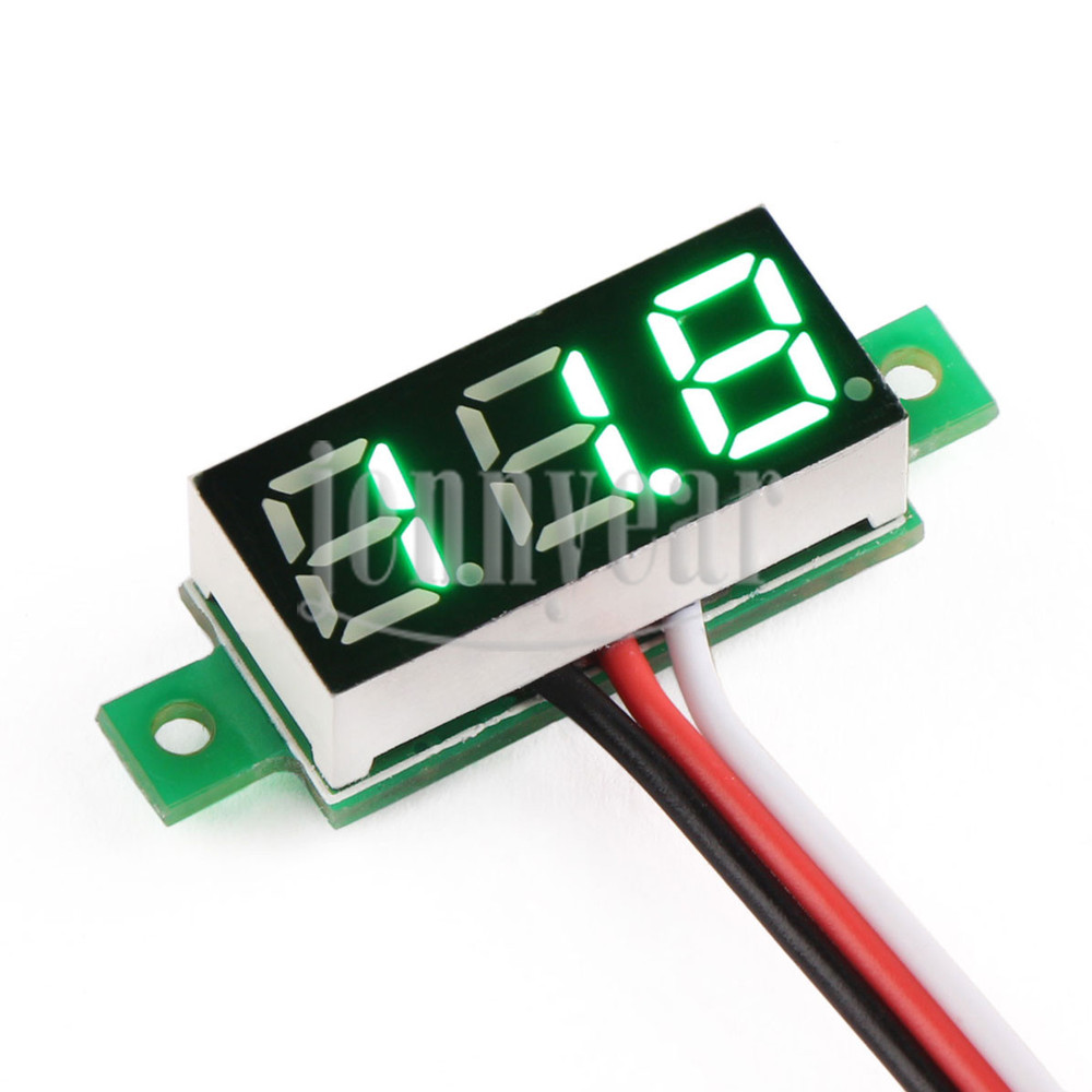 Small Digital Voltmeters Dc : Quot green led digital voltmeter ultra small dc v