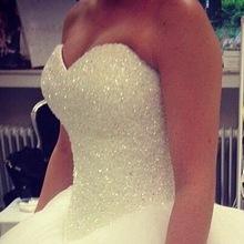 Robe De Mariage Prinzessin Bling Luxus Kristalle Weiß Hochzeit Kleid Kleid 2016 Brautkleid Brautkleid Vestido De Noiva nach maß(China (Mainland))
