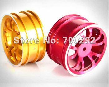 Free Shipping 1/10 on-road rc car used 5-Y spoke CNC Aluminum Wheel Rim