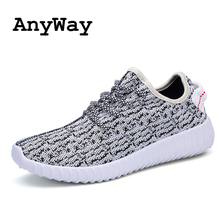AnyWay 2016 Fashion Mens Casual Shoes yeezy shoes Breathable Platform Plus Size Slip-on Flats Shoes Men(China (Mainland))