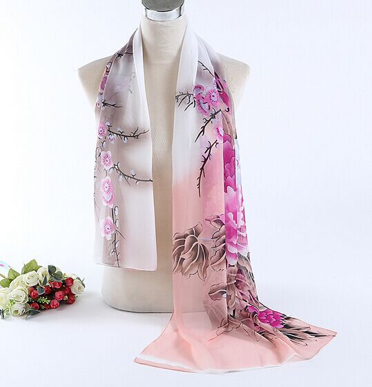 fashion scarf women scarves chiffon scarf soft smooth thin silk scarf for women phasmina for wholesale women shawl freeshipping(China (Mainland))