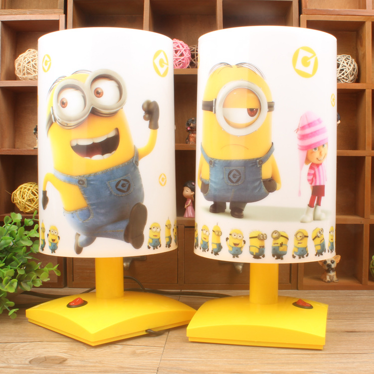 Simple cylinder table lamp Minions Figure LED Desk Table Lampcreative cartoon dads stylish villains bedroom table lamps<br><br>Aliexpress